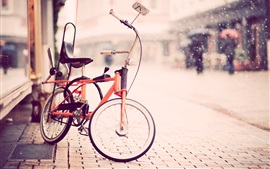 Preview wallpaper Bike, street, snow