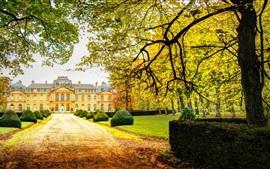 Aperçu fond d'écran Château, arbres, automne