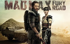 Preview wallpaper Charlize Theron, Tom Hardy, Mad Max: Fury Road