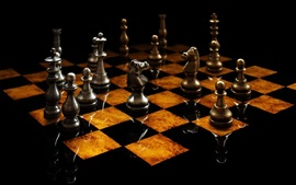 Preview wallpaper Chess, metal