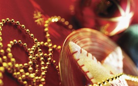 Preview wallpaper Christmas decorations, beads, gold style
