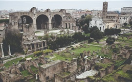 Preview wallpaper Colosseum, Rome, ruins, ancient city, travel place