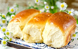Pão delicioso, flores