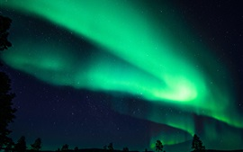 Preview wallpaper Finland, Northern lights, night, beautiful sky, stars