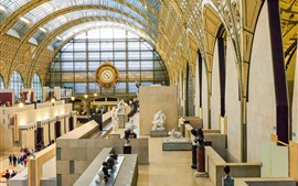 France, Paris, Musee, interior