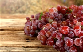 Preview wallpaper Fresh red grapes, harvest, water drops