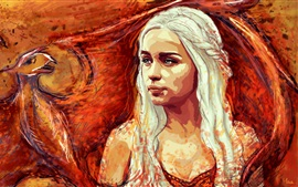 Preview wallpaper Game of Thrones, Emilia Clarke, art picture