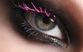 Preview wallpaper Girl eye macro photography, makeup