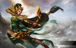 Preview wallpaper Heroes of Newerth, archer, girl, arrows, bow