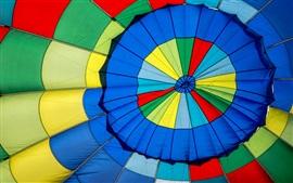 Balão de ar quente cores coloridas