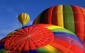 Preview wallpaper Hot air balloon, top view, colorful