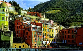 Preview wallpaper Italy, Cinque Terre, Liguria, houses, buildings