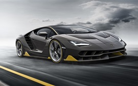 Lamborghini LP770-4 black supercar speed