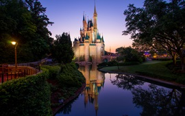 Magic Kingdom, Disney Castle, Disneyland, manhã
