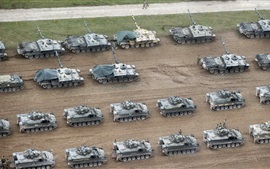 Preview wallpaper Many tanks, British Army