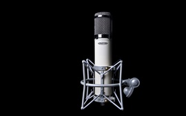 Preview wallpaper Microphone, black background