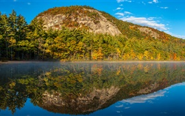 Preview wallpaper New Hampshire, Echo Lake, water, mountains, trees, USA