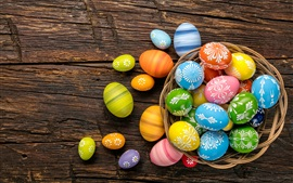 Preview wallpaper One basket colorful eggs