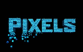 Preview wallpaper Pixels, creative picture, black background