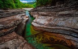 Preview wallpaper River, rocks, trees