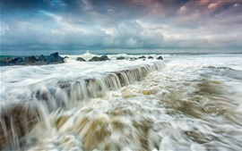 Preview wallpaper Sea, waves, storm