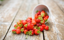 Preview wallpaper Summer fruit, strawberry, bowl, table