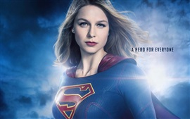 Preview wallpaper Supergirl, hairstyle, comic heroes, TV Series