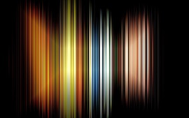 Preview wallpaper Vertical rainbow lines, black background