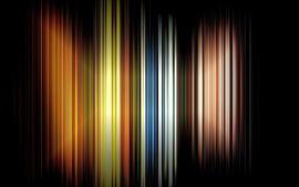 Aperçu fond d'écran Lignes arc-en-ciel verticales, fond noir