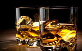 Preview wallpaper Whiskey, cups, ice cubes