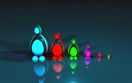 Preview wallpaper 3D colorful figurines