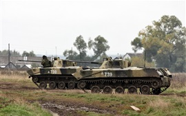 BMD-2 fighting vehicles exercises, Russia