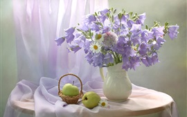 Preview wallpaper Chamomile, bells flowers, apple, pear