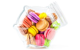 Preview wallpaper Colorful cookies, macaron, almond, dessert
