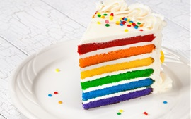 Preview wallpaper Colorful layered cake, dessert