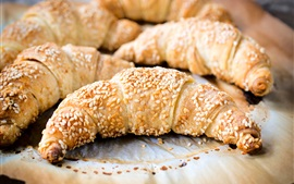 Preview wallpaper Croissants, bread, sesame