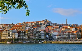 Preview wallpaper Douro River, Portugal, port, houses