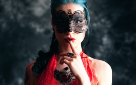 Preview wallpaper Fashion girl, makeup, mask