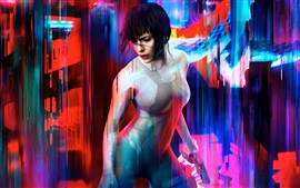Preview wallpaper Ghost in the Shell, Scarlett Johansson, 2017 movie