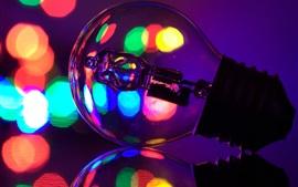 Lámpara, brillo colorido