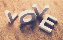 Love, wood board