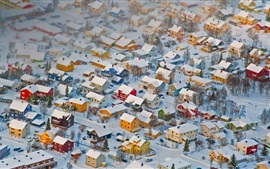 Norway, Tromso, winter, snow, houses, city