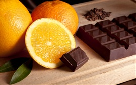 Preview wallpaper Oranges and chocolate