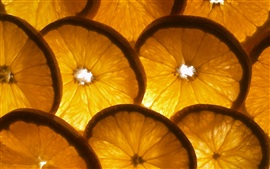 Oranges sliced, backlight