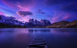 Preview wallpaper Patagonia, lake, mountains