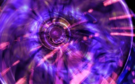 Preview wallpaper Purple circle light, abstract