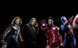 Preview wallpaper The Avengers, superheroes, black background