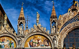 The Cathedral Of St. Mark, front view, Italy, Venice