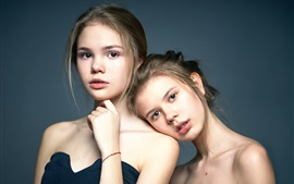 Two girls, twins