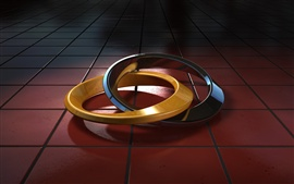 Preview wallpaper 3D helix circles